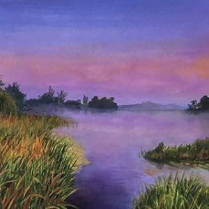 Sunset in the Marshland