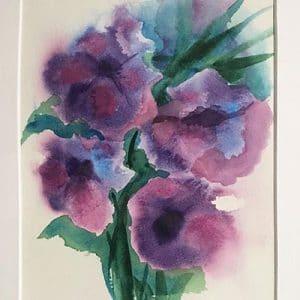 Purple Water Flowers
