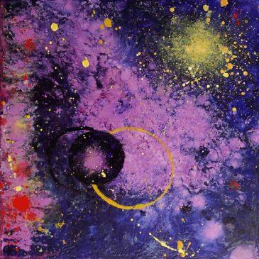 Dark Matter small acrylic painting
