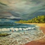 Punta Uva Beach, acrylic on Canvas