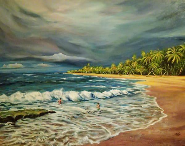 Punta Uva Beach, acrylic on Canvas