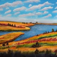 Blue Mound Lake Watercolor II