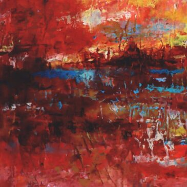 Flood Stage Abstract Painting