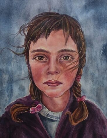 Refugee Girl Watercolor on paper