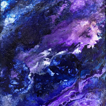Purple Rain Acrylic Abstract