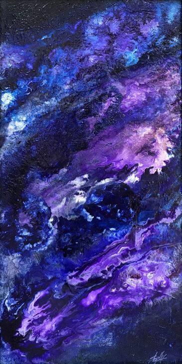 Purple Rain Acrylic Abstract