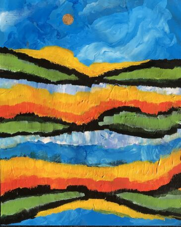 Carnival Hills Acrylic Painting